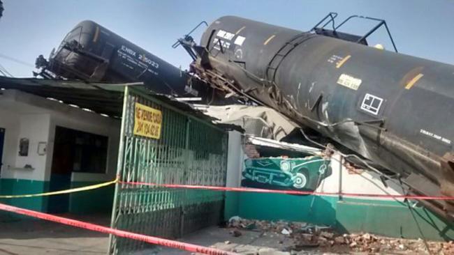 Descarrila tren en Tlaxcala