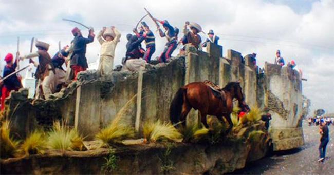 Celebración del 154 aniversario de la Batalla de Puebla