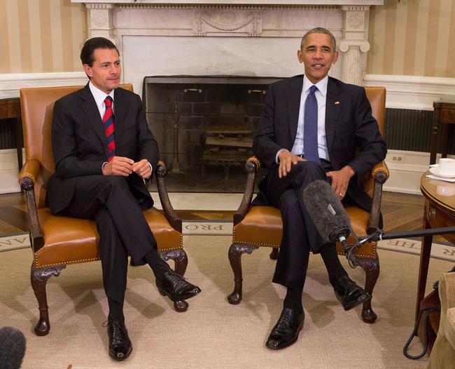 Se reúnen EPN y Obama en la Casa Blanca